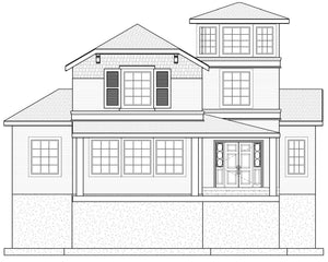 CAPE COD House Plan Elevation by Authentic Homes in Utah