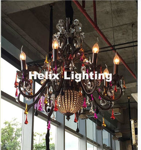 Colorful Crystal Chandelier - Lighting