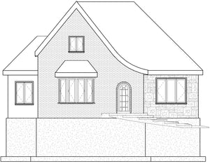 COTTAGE House Plan Elevation by Authentic Homes in Utah