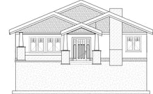 Load image into Gallery viewer, CRAFTSMAN House Plan Elevation by Authentic Homes in Utah