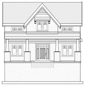 CRAFTSMAN House Plan Elevation by Authentic Homes in Utah