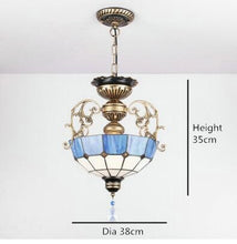Load image into Gallery viewer, Euroepan Style Chandelier Blue Shade - Green - Lighting