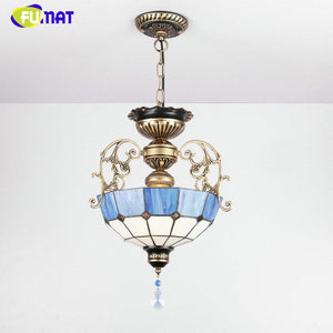 Euroepan Style Chandelier Blue Shade - Lighting