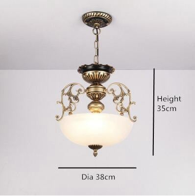 Euroepan Style Chandelier Blue Shade - White - Lighting