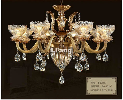 European Brass Chandelier - Lighting