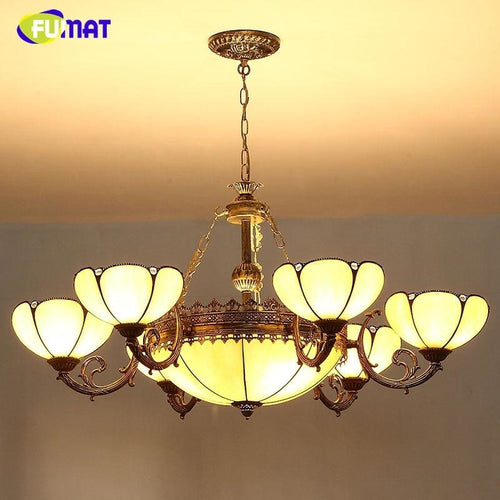 European Style Vintage Chandeliers Stained Glass - Lighting