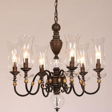 Load image into Gallery viewer, European Vintage Art Chandelier Glass Lampshade - 6 lights - Lighting