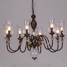Load image into Gallery viewer, European Vintage Art Chandelier Glass Lampshade - 8 lights - Lighting