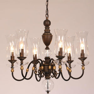 European Vintage Art Chandelier Glass Lampshade - Lighting