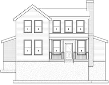 Load image into Gallery viewer, FARMHOUSE House Plan Elevation by Authentic Homes in Utah