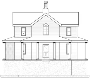 FARMHOUSE House Plan Elevation by Authentic Homes in Utah