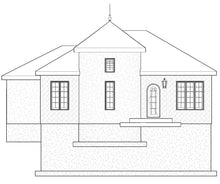 Load image into Gallery viewer, FRENCH House Plan Elevation by Authentic Homes in Utah