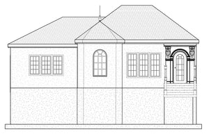 FRENCH House Plan Elevation by Authentic Homes in Utah