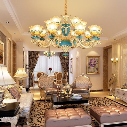 Glass Vintage Chandeliers - Lighting