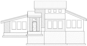 MODERN House Plan Elevation by Authentic Homes in Utah