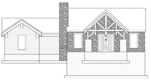 MOUNTAIN House Plan Elevation by Authentic Homes in Utah
