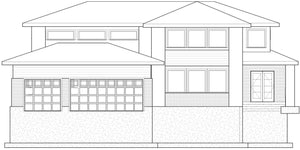 PRARIE House Plan Elevation by Authentic Homes in Utah