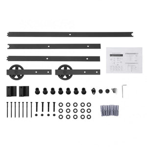 8 FT Sliding Barn Door Hardware & Rail Set for Sliding Door