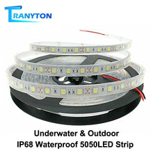 Load image into Gallery viewer, IP67 IP68 Waterproof LED Strip 5050 DC12V High Quality Underwater & Outdoor Safety RGB LED Strip Light 300LEDs 60LEDs/M 5m/lot