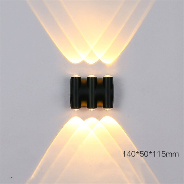 Thrisdar Outdoor Motion Sensor Wall Lamp Garden Balcony Villa Front Door Security Wall Light Corridor Aisle Exterior Wall Lamp
