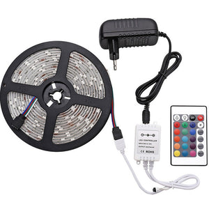 LED Strip Light  Waterproof Color Changing Light with Remote Bright 5050 Multicolor LED Lights for Room Kitchen, Yard, Party