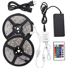 Load image into Gallery viewer, LED Strip Light  Waterproof Color Changing Light with Remote Bright 5050 Multicolor LED Lights for Room Kitchen, Yard, Party