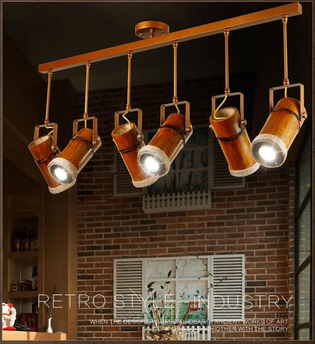 Solid Wood Track Lamps - Lighting
