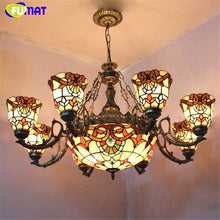 Load image into Gallery viewer, Stained Glass Chandelier - Lighting