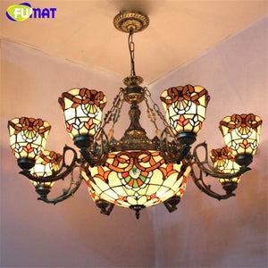 Stained Glass Chandelier - Lighting