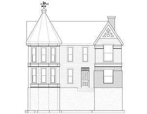 VICTORIAN House Plan Elevation by Authentic Homes in Utah