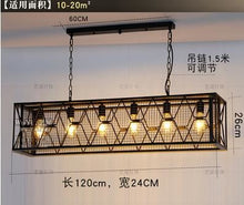 Load image into Gallery viewer, Vintage Wrought Iron Industrial Chandelier - 6 heads / White light - Lighting