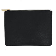 Personalized Saffiano Leather Zip Pouch