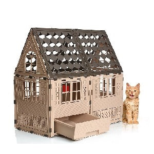 cat house with litter box