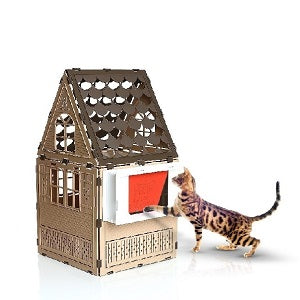 cat enclosure with cat door