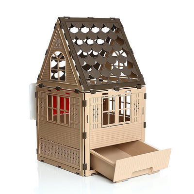 Cat Window House w/ Litter Box & Cat Door Studio Flat - Free Shipping
