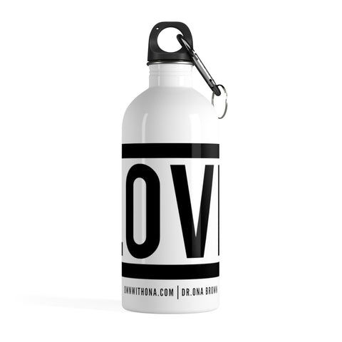 """Love"" Stainless Steel Water Bottle"