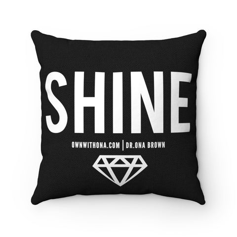 """SHINE"" Spun Polyester Square Pillow Case"