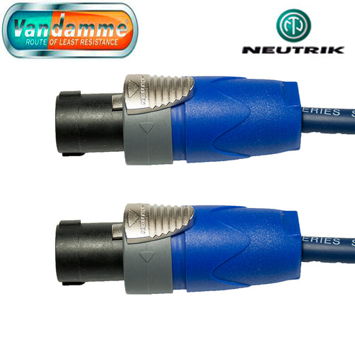 Neutrik Speakon 2 Pole NL2FX to NL2FX 1.5mm Van Damm Blue Tour Cable