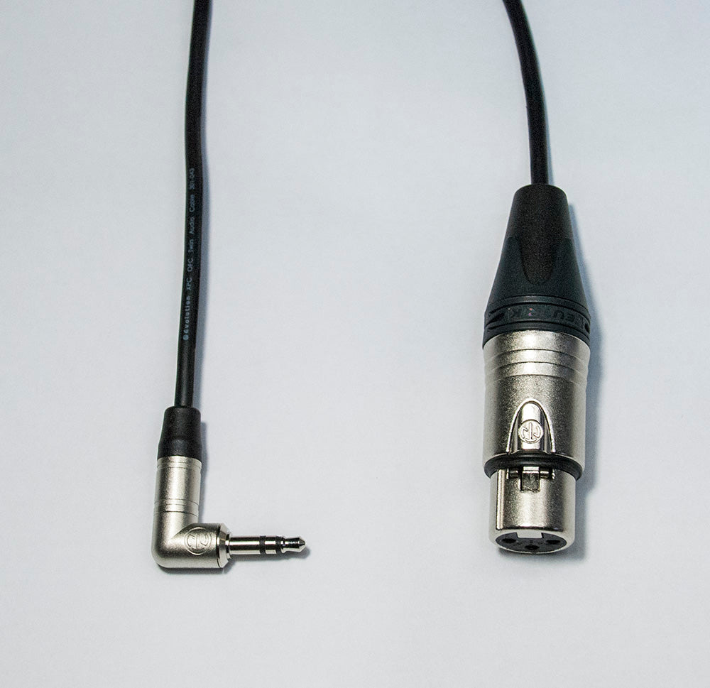 Balanced Mono Mic Lead 3.5mm Mini R/A Jack to Neutrik XLR Female Sommer cable