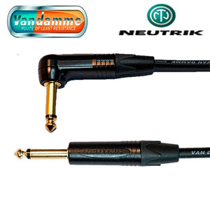 "Van Damme XKE Guitar/Instrument Cable Neutrik Gold 1/4"" Jack Straight to R/A Connectors"