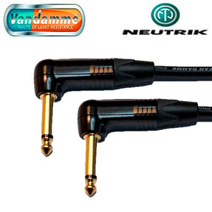 "Van Damme XKE Guitar/Instrument Cable Neutrik Gold 1/4"" Jack R/A to R/A Connectors"