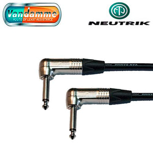 "Van Damme Pro Guitar Lead Neutrik 1/4"" R/A to R/A Jack Connectors NP2RX"