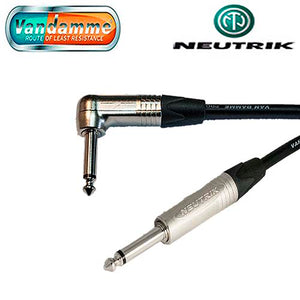 "Van Damme Pro Guitar Lead Neutrik 1/4"" Str to R/A Jack Connectors NP2X to NP2RX"