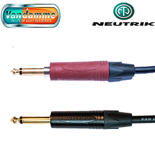 Guitar lead Van Damme Cable Neutrik 1/4