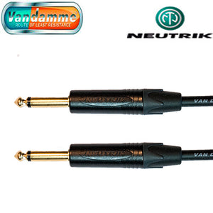 "Van Damme XKE Guitar/Instrument Cable Neutrik Gold 1/4"" Jack Straight Connectors"