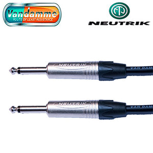 "Van Damme XKE Guitar/Instrument Cable Neutrik Nickel 1/4"" Jack Straight Connectors"