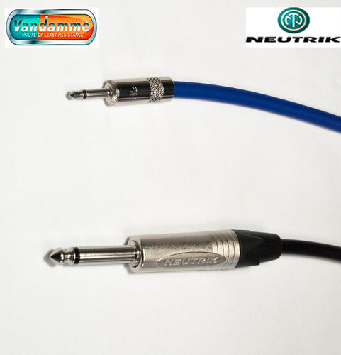 Neutrik Mono 3.5mm Mini Jack NYS226 to Mono NP2X 1/4