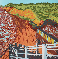 Jacob's Ladder Linocut by Hazel Bryer - londonprintstudio