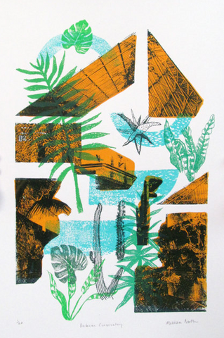 Barbican Conservatory Screenprint by Melissa North