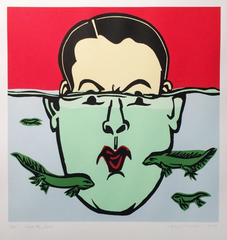 Right ho, Jeeves Screenprint by Andrzej Klimowski - londonprintstudio